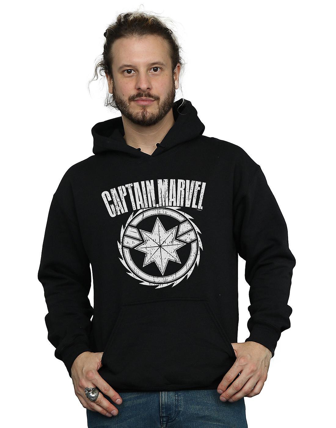 Marvel Men's Captain Marvel Blade Emblem Hoodie