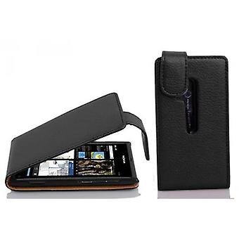 Cadorabo Case for Nokia Lumia 800 Case Cover - Phone Case in Flip Design in Textured Faux Leather - Case Cover Protective Case Case Case Case Book Folding Style