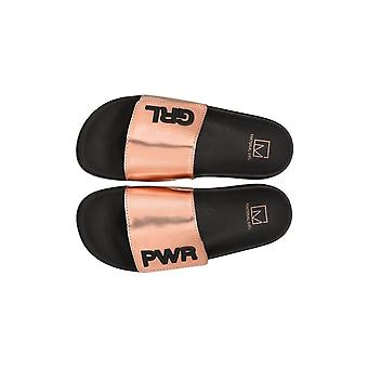 Material Girl Womens Paige Open Toe Casual Slide Sandals