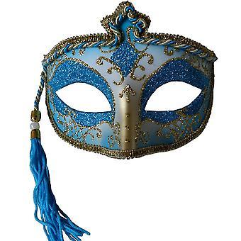 Tasseled Karneval Maske Bluefor Maskerade
