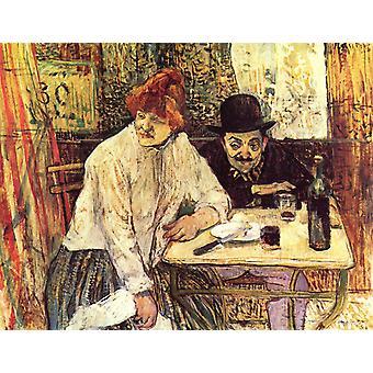 A La mie, Henri Toulouse-Lautrec, 50x40cm