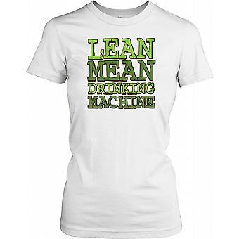 Lean mener drikke Machine - Funny Quote damer T skjorte