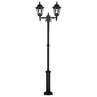 Paróquia Twin post preto-Elstead Lighting