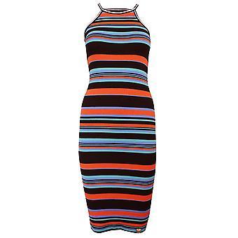 Superdry tianamidi kvinnors mångfärgade rand klänning