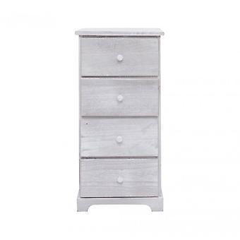 Rebecca meubelen dressoir bed lade 4 laden wit hout ontwerp Retro-kamer