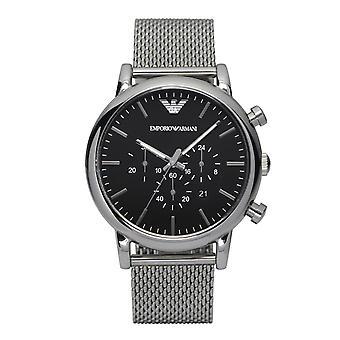 Emporio Armani Ar1808 en acier inoxydable noir Mens Watch