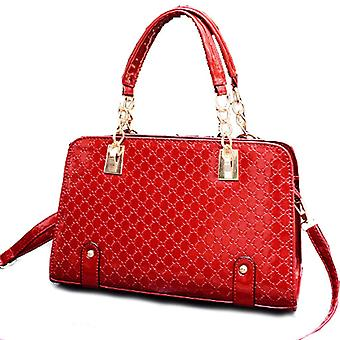Designer womens faux patent leather large style bag