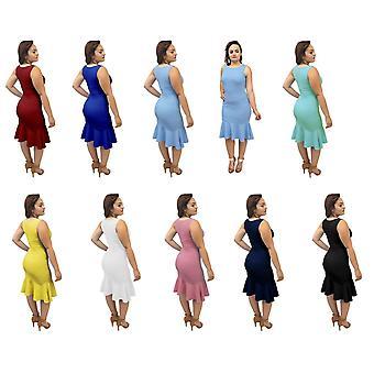 Dbg women's mermaid sleeveless trumpet dresses