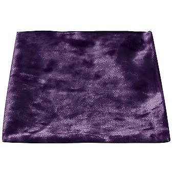 Luxury Purple Crushed Velvet Pocket Square, Handkerchief