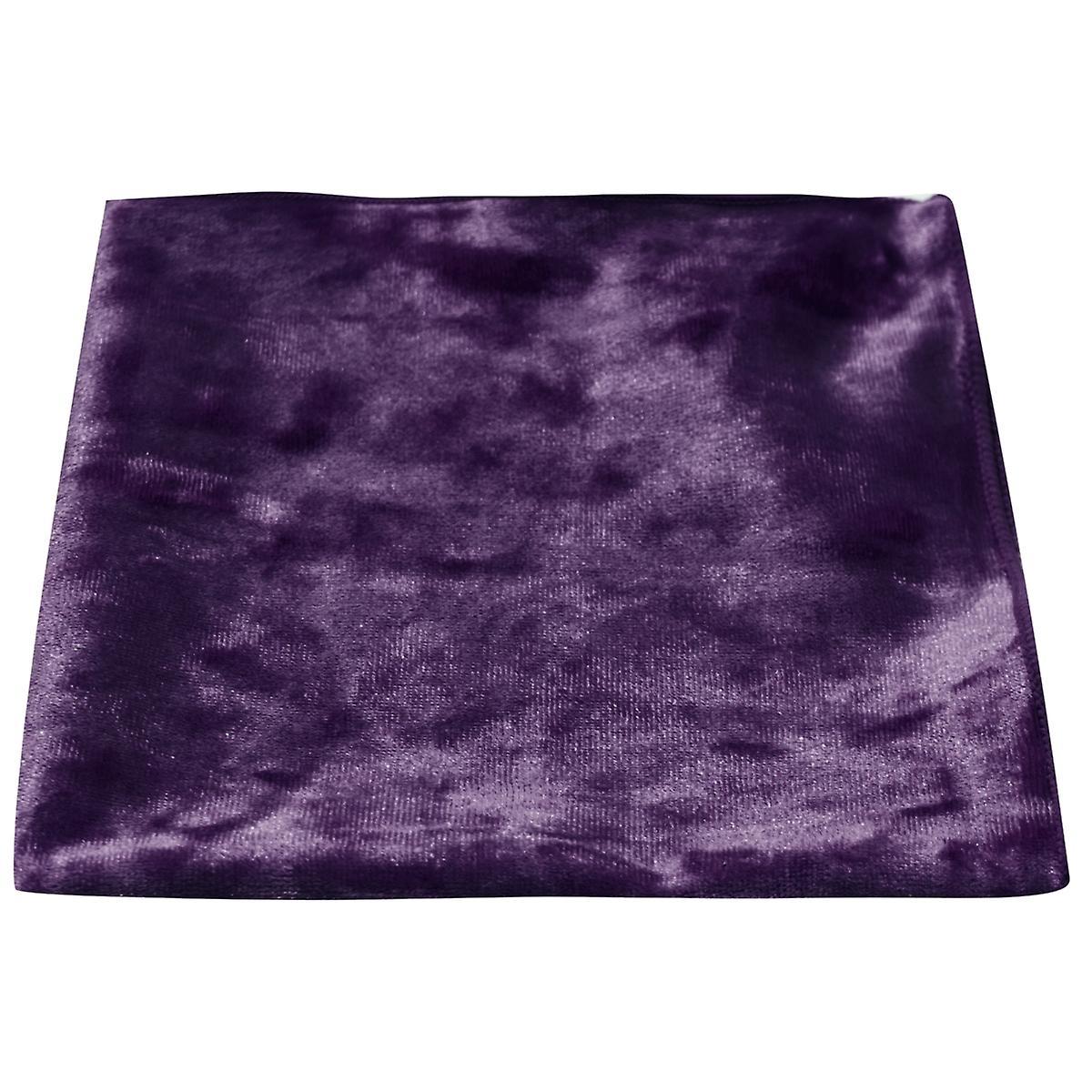 Luxury Purple Crushed Velvet Pocket Square, Handkerchief