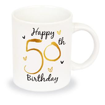 Simply Gifts 50th Birthday Foiled Unisex Birthday Mug