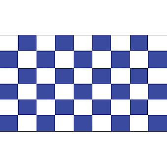 5ft x 3ft Flag - Chequered - blue and white