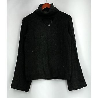 G.I.L.I. tenho que amá-lo camisola Turtleneck Keyhole camisola cinza A297944
