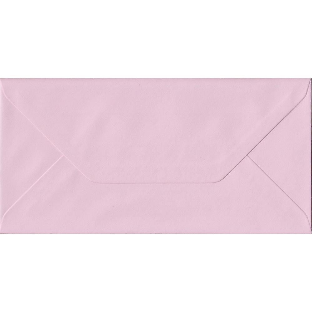 Baby Pink DL Envelope 110mm x 220mm 100gsm Gummed Pink Business DL Envelopes