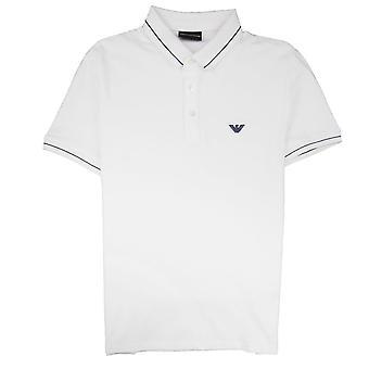 Emporio Armani Armani Jeans derrubado logo camisa pólo branco 0100