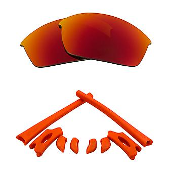 Polarized Replacement Lenses & Kit for Oakley Flak Jacket Red Mirror & Red Anti-Scratch Anti-Glare UV400 by SeekOptics