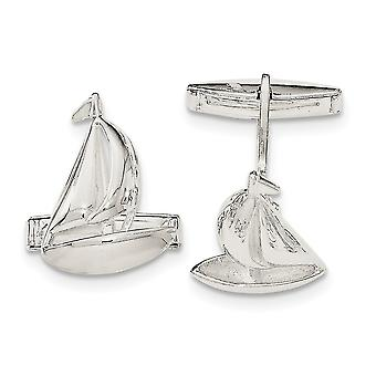 925 Sterling Silver Sail Boat Cuff Links Jewelry Gifts for Men
