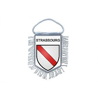 Fanion Mini Flag Country Car Decoration Souvenir Blason France Strasbourg