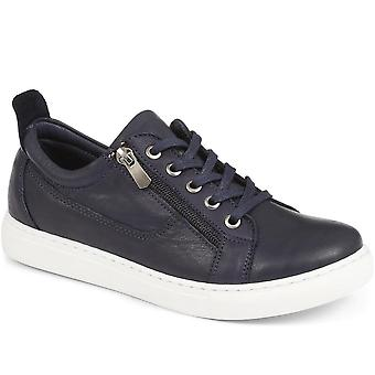 Lace-up leather trainer - pvr