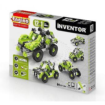 Engino Inventor 12 In 1 CARS - Construction Kit
