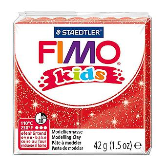 STAEDTLER 42 g Fimo Kids Individual Blocks (Glitter Red)