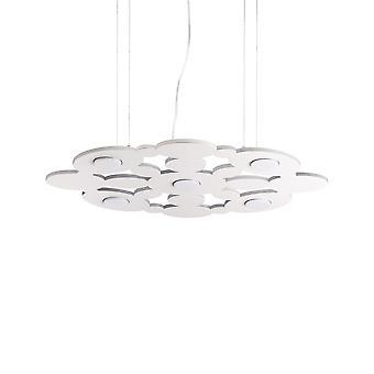 Ideale Lux Toronto 5 Light Pendant Light White IDL195285