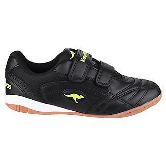 KangaRoos KR10704 Backyard Childrens Shoe White/Black / Boys Trainers