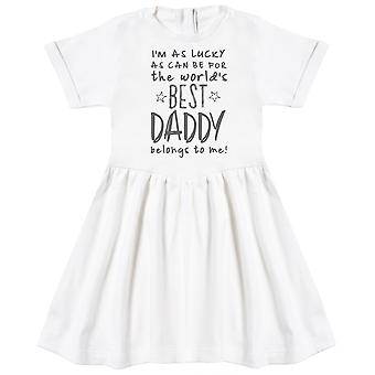 I'apos;m As Lucky As Can Be Best Daddy m'appartient! Robe de bébé