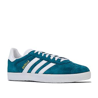 Hombres adidas Originals Gazelle Trainers In Petrol Night / Cloud White / Cloud