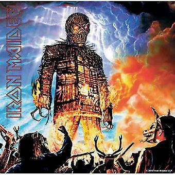 Iron Maiden Coaster Wicker Man new Official 9.5cm x 9.5cm single