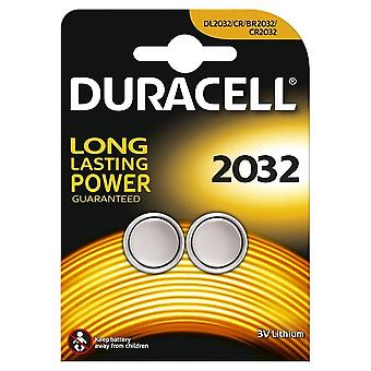 2 x Duracell CR2032 3V Lithium Coin Cell Battery 2032, DL2032, BR2032, SB-T15