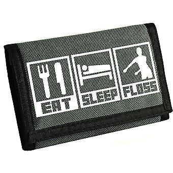 Essen, Schlafen, Zahnseide Kinder Klettverschluss Brieftasche