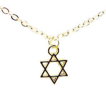 Andlig visdom, inspirerande budskap kort hängande halsband, smycken kärlek lycka stjärna