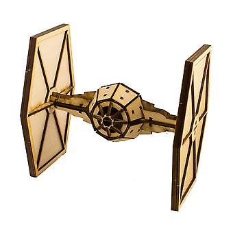 Crafts - sw space fighter - model kit raw wood 8x8x6