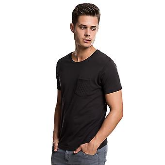 Urban Classics Men's T-Shirt Quilted Pocket