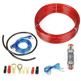 1500W Car Wire Harness Amplifier Audio Subwoofer Installation Kit 8GA Power Cable 60 AMP Fuse Holder