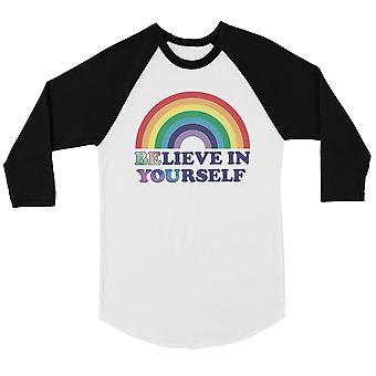 LGBT seien Sie glauben Regenbogen Bkwt Herren Baseball Shirt Weihnachten
