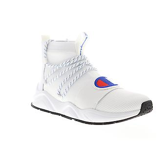 Champion Rally Hype Mid  Mens White Casual High Top Sneakers Shoes