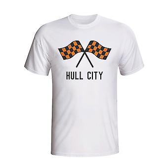 Hull City Waving Flags T-shirt (weiß)