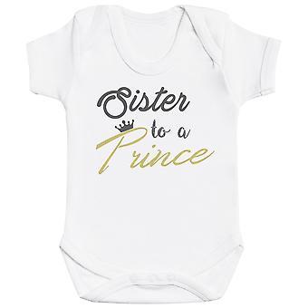 Søskende Prins og Prinsesse - Matchende Kids Set - Baby Bodysuits - Gavesæt