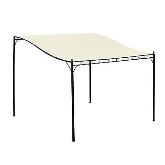 Outsunny 3 x 3(m) Wall Mounted Awning Free Stand Canopy Shade Garden Porch Pergola