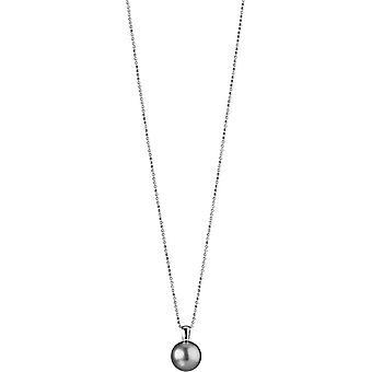 Adriana necklace silver rhod. Tahiti black 12-13mm Carabiner Premium PR4-49