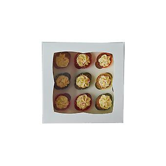 Culpitt Bianco 9 Foro Mini Cupcake Box