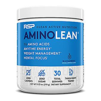 Rsp aminolean - pre-workout energy, fat burner powder, amino acids, recovery, blue raspberry (30 servings)