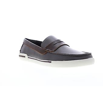 Unlisted by Kenneth Cole Un Anchor  Mens Brown Casual Loafers Shoes