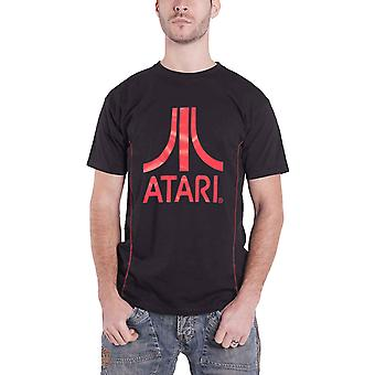 Atari T Shirt Classic Red Logo new Official Gamer Mens Black