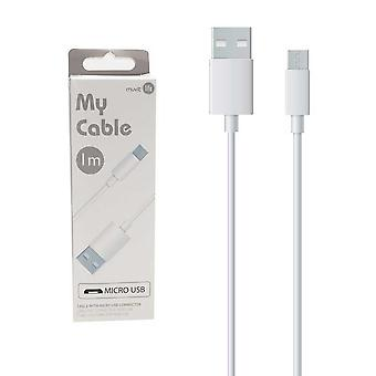Usb Cable / Micro Usb 1 Meter (2.4 A) White My Cable