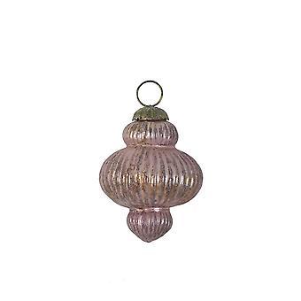 Licht & lebendige Weihnachtskugel 11,5 cm Knauf Glas Ox Aubergine