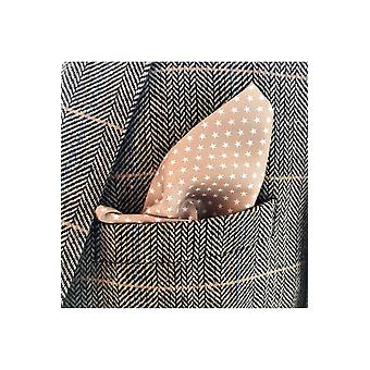 JSS Brown & Black Patterned Cotton Pocket Square