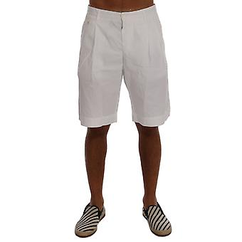 Dolce & Gabbana White Cotton Knee Length Shorts
